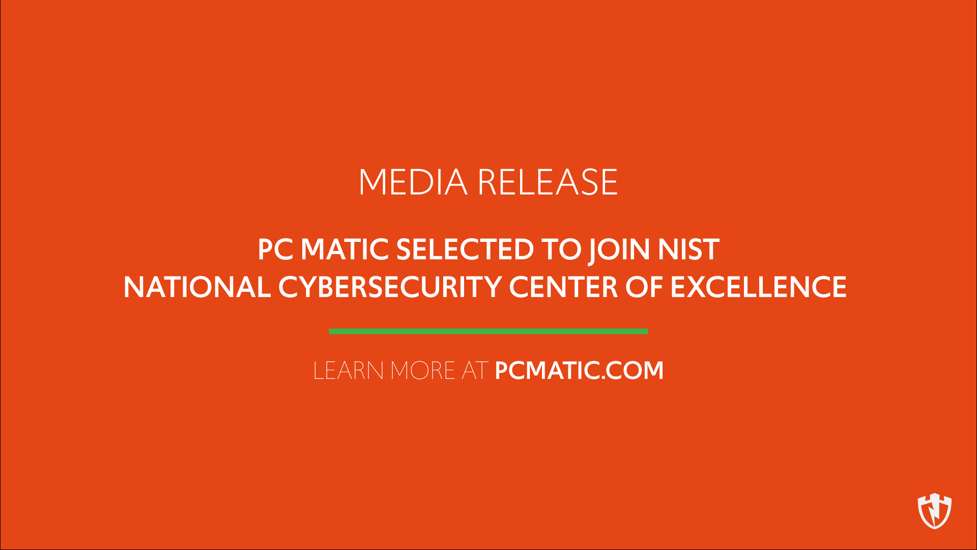 PC Matic joins with NIST's NCCoE's Cybersecurity Center to help Business & Government Agencies combat cyber crime.