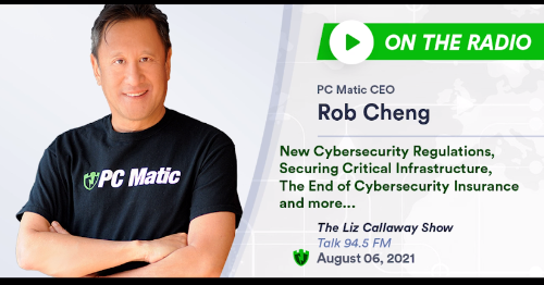 Rob Cheng joins Liz Callaway to discuss cyber regulations and more.