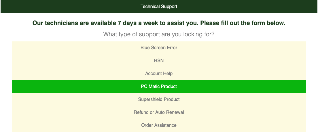 Get help for PC Matic Antivirus Software