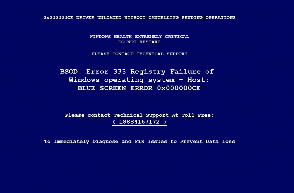 Fake blue screen program