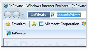 InPrivate browsing