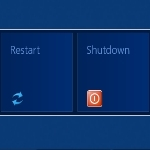 how to restart or shutdown windows 8
